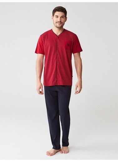 U.S. Polo Assn. Pijama Takım Bordo